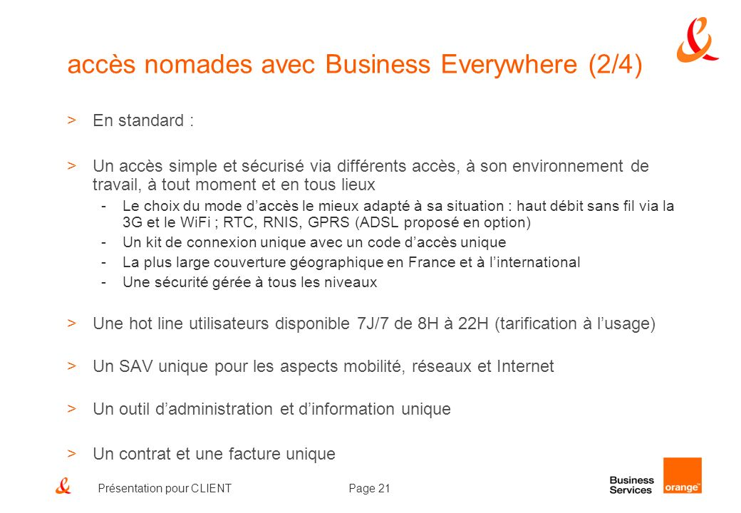 accès nomades avec Business Everywhere (2/4)