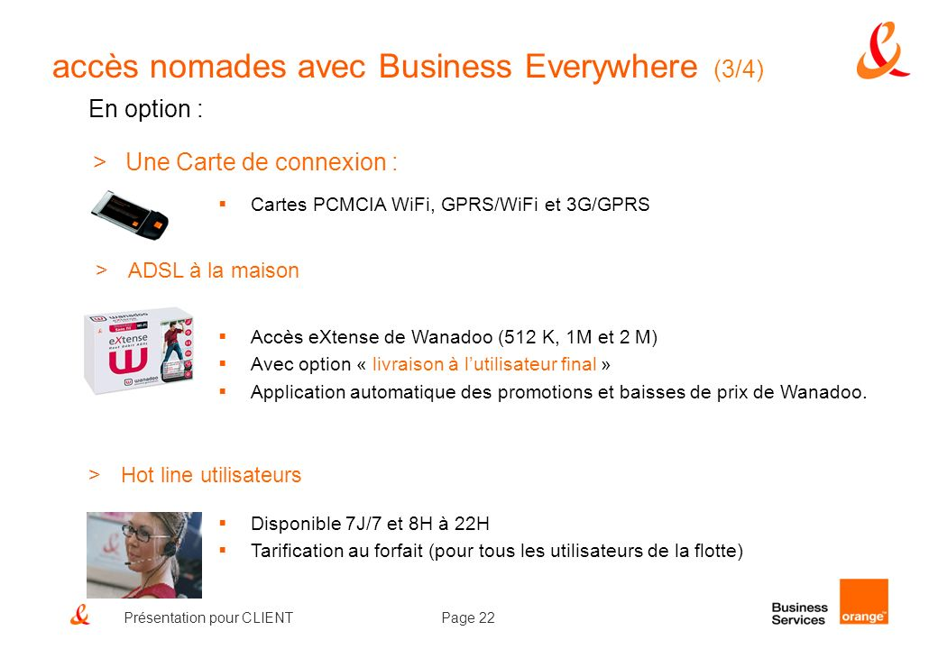 accès nomades avec Business Everywhere (3/4)