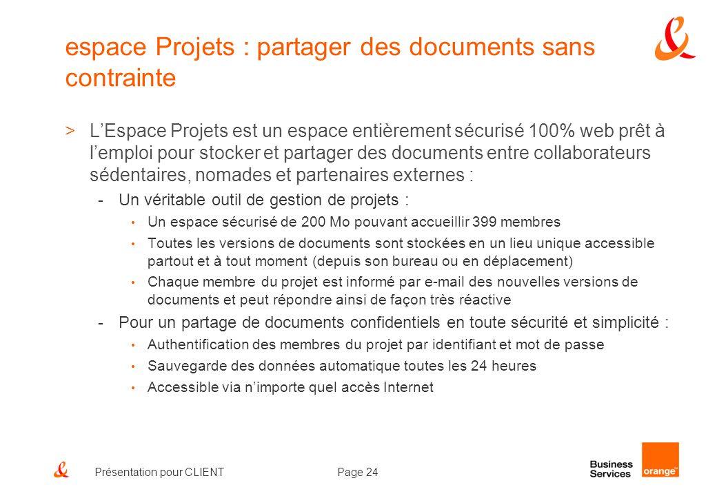 espace Projets : partager des documents sans contrainte