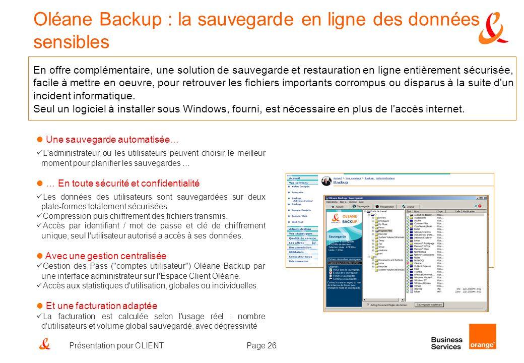 Oléane Backup : la sauvegarde en ligne des données sensibles