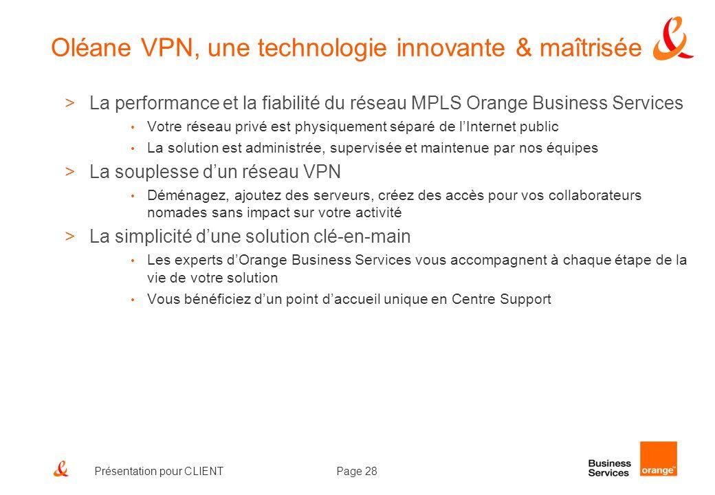 Oléane VPN, une technologie innovante & maîtrisée