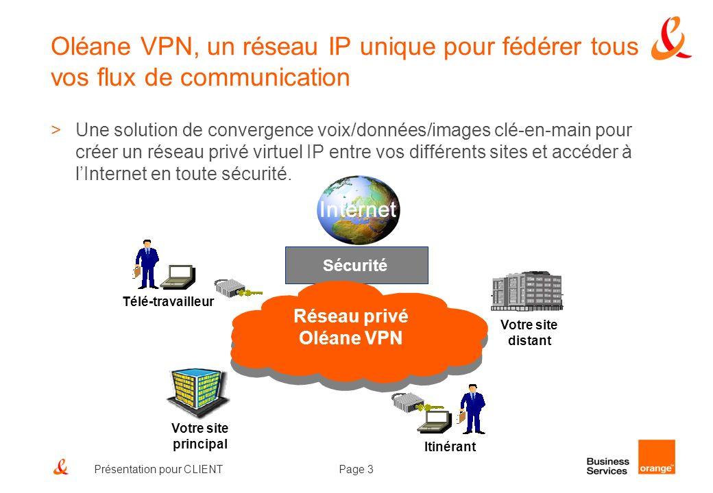 Oléane VPN, un réseau IP unique pour fédérer tous vos flux de communication