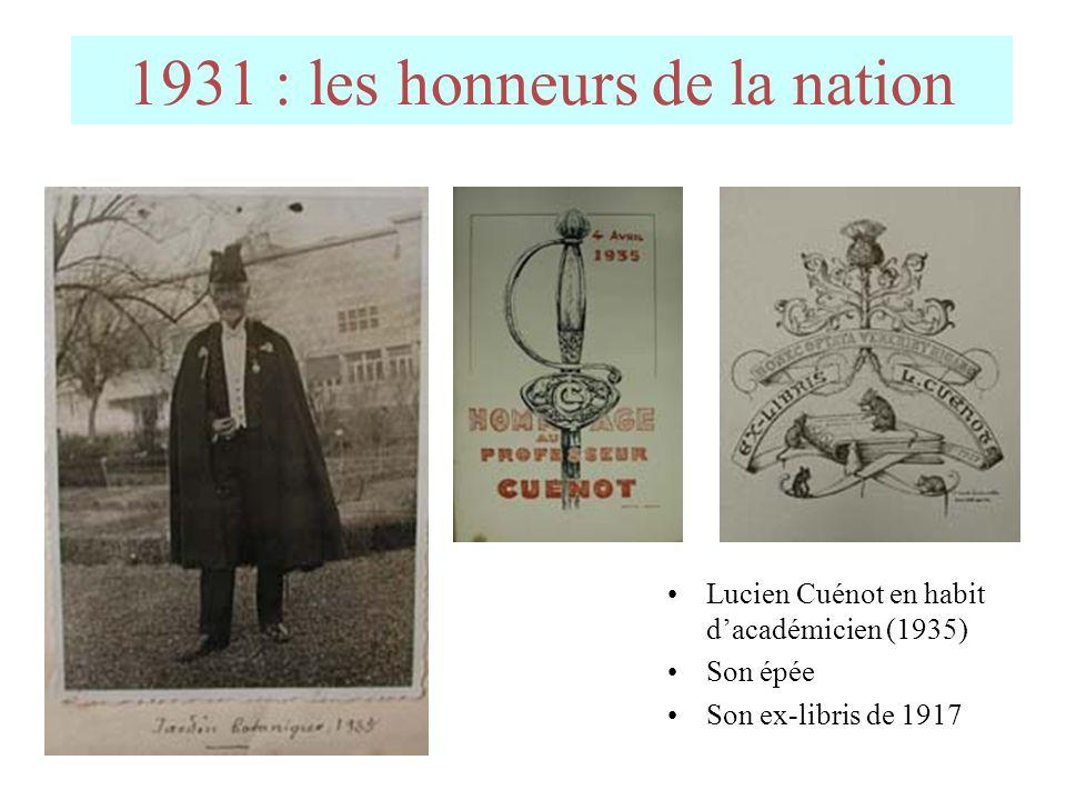 1931 : les honneurs de la nation