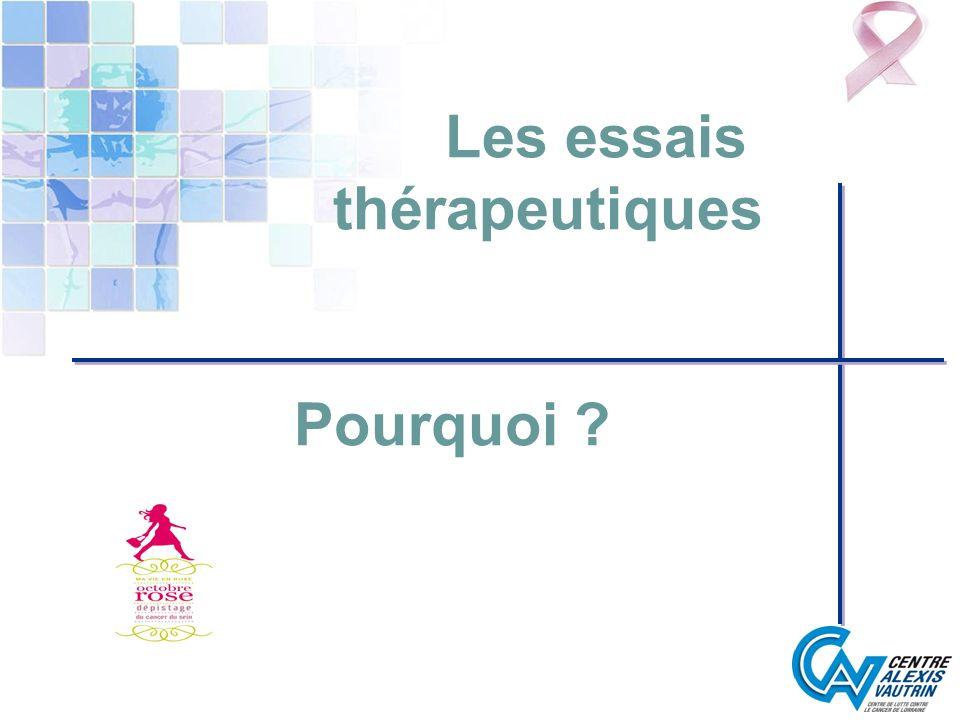 Les essais thérapeutiques Pourquoi