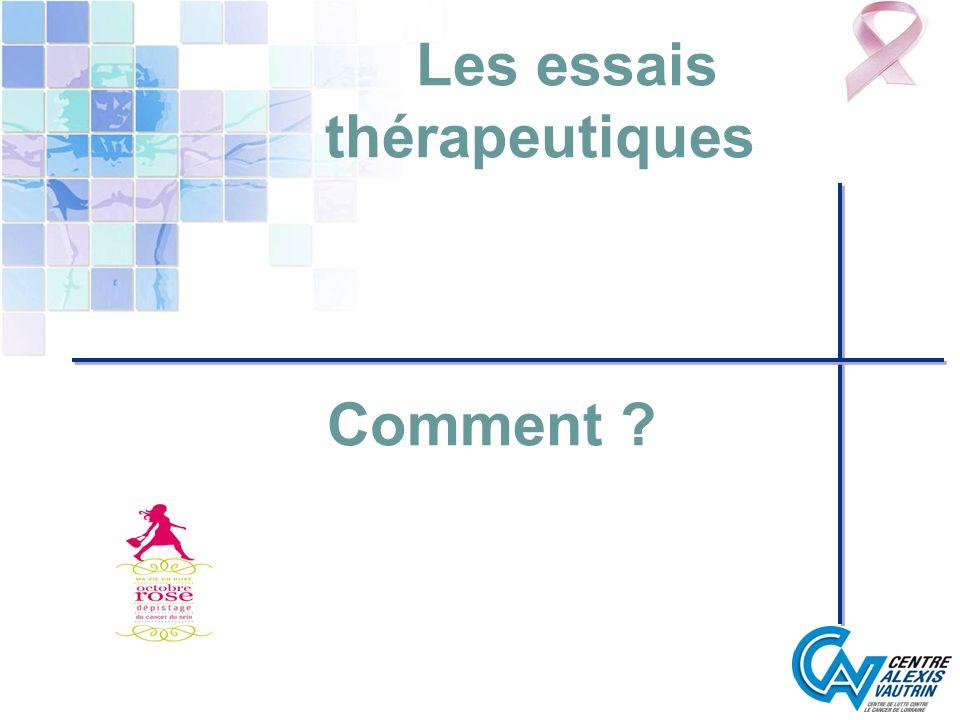 Les essais thérapeutiques Comment