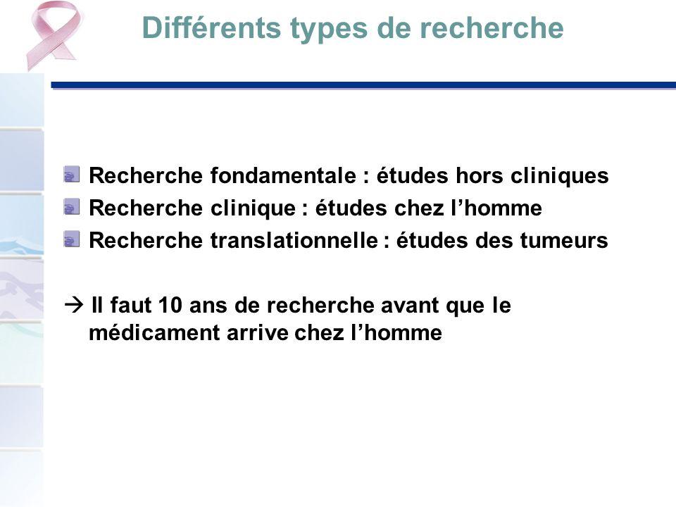 Différents types de recherche