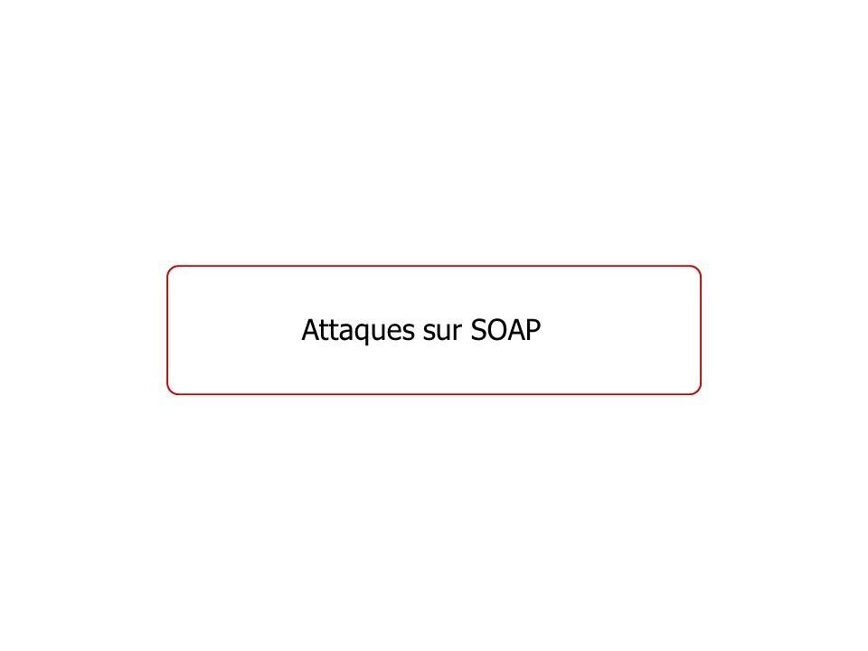 Attaques sur SOAP