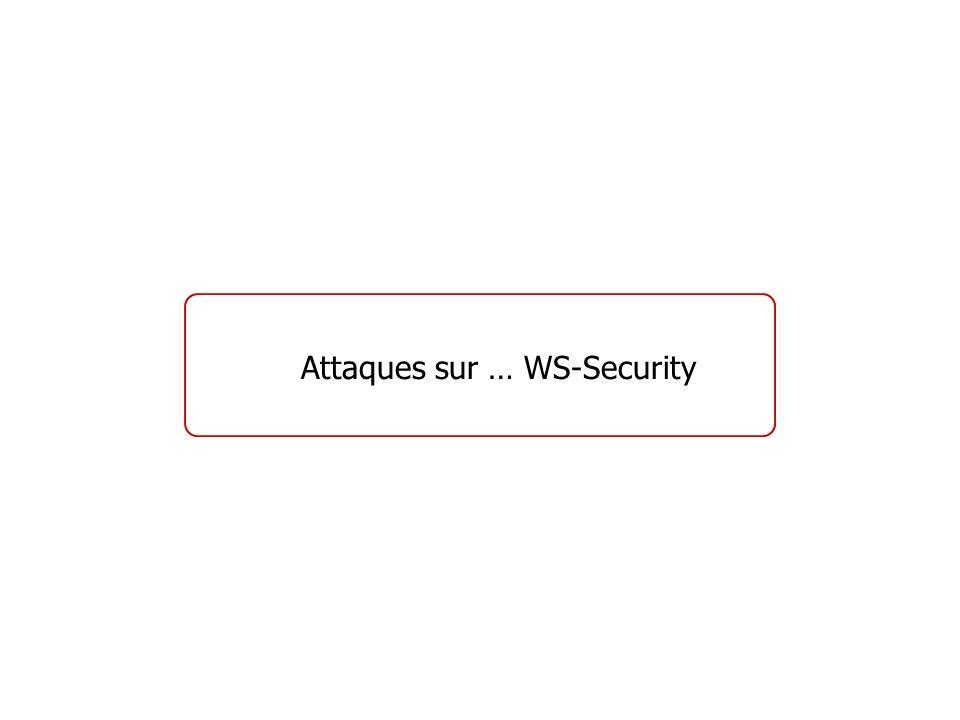 Attaques sur … WS-Security