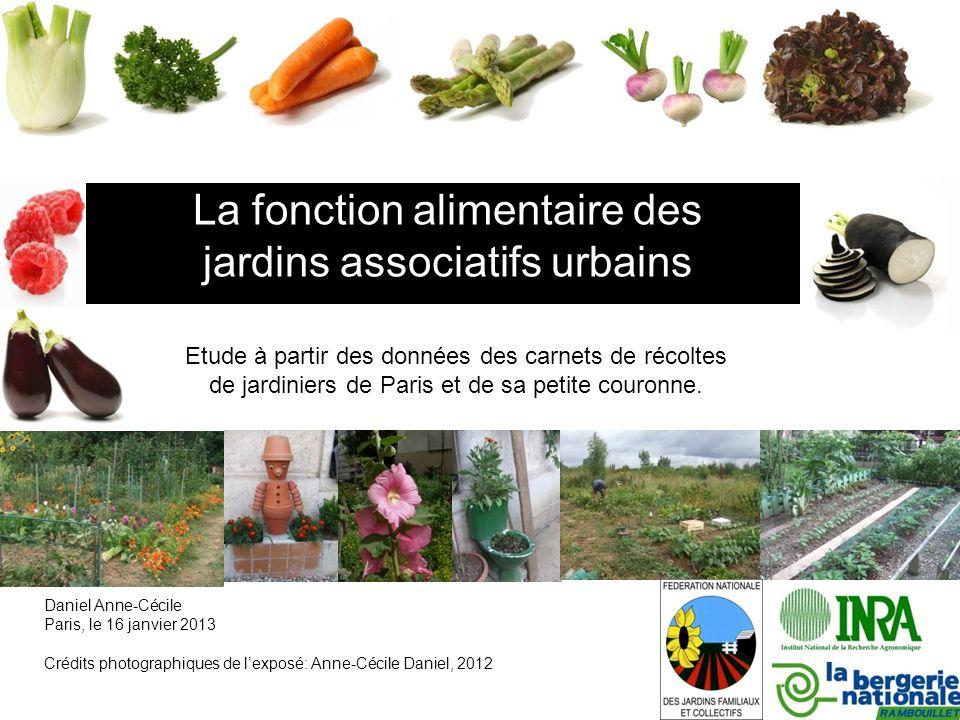 La fonction alimentaire des jardins associatifs urbains