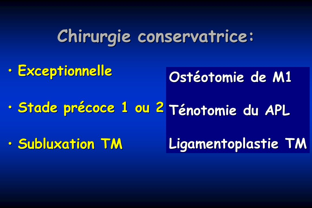 Chirurgie conservatrice: