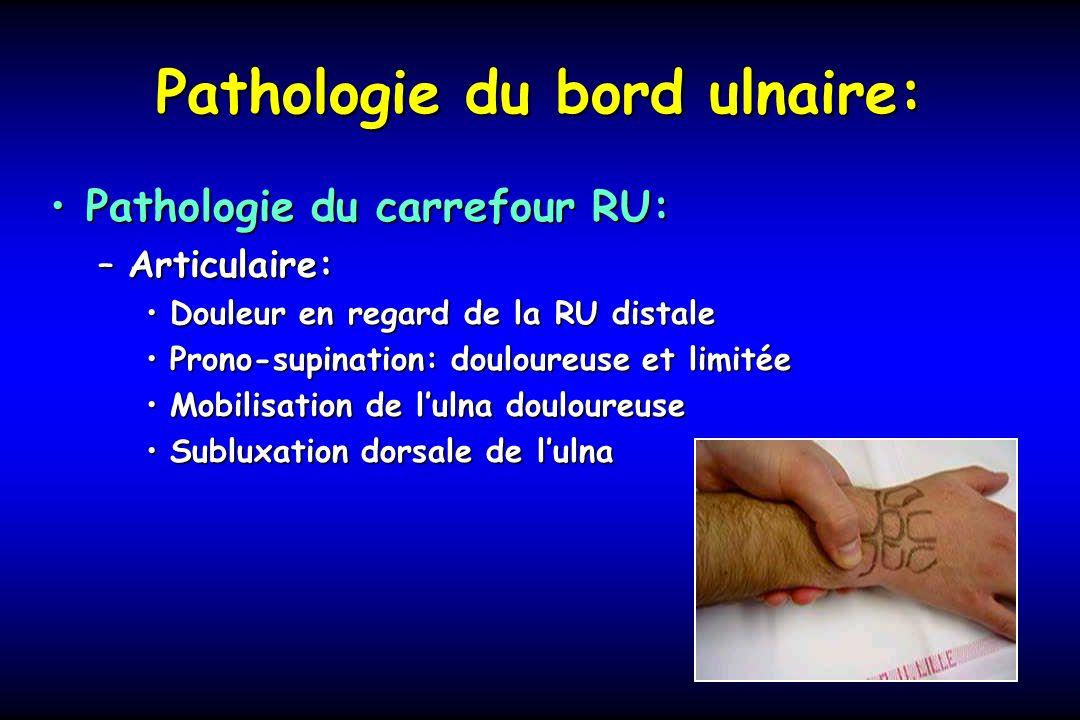 Pathologie du bord ulnaire: