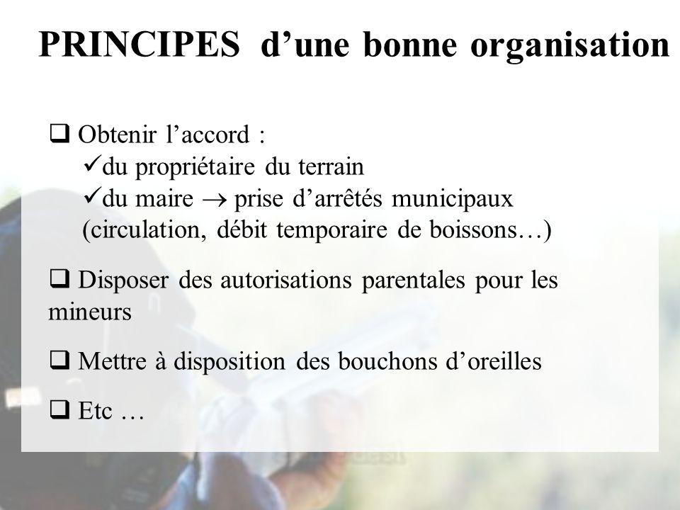 PRINCIPES d'une bonne organisation