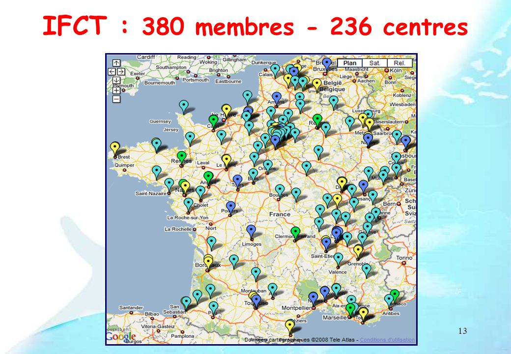 IFCT : 380 membres - 236 centres