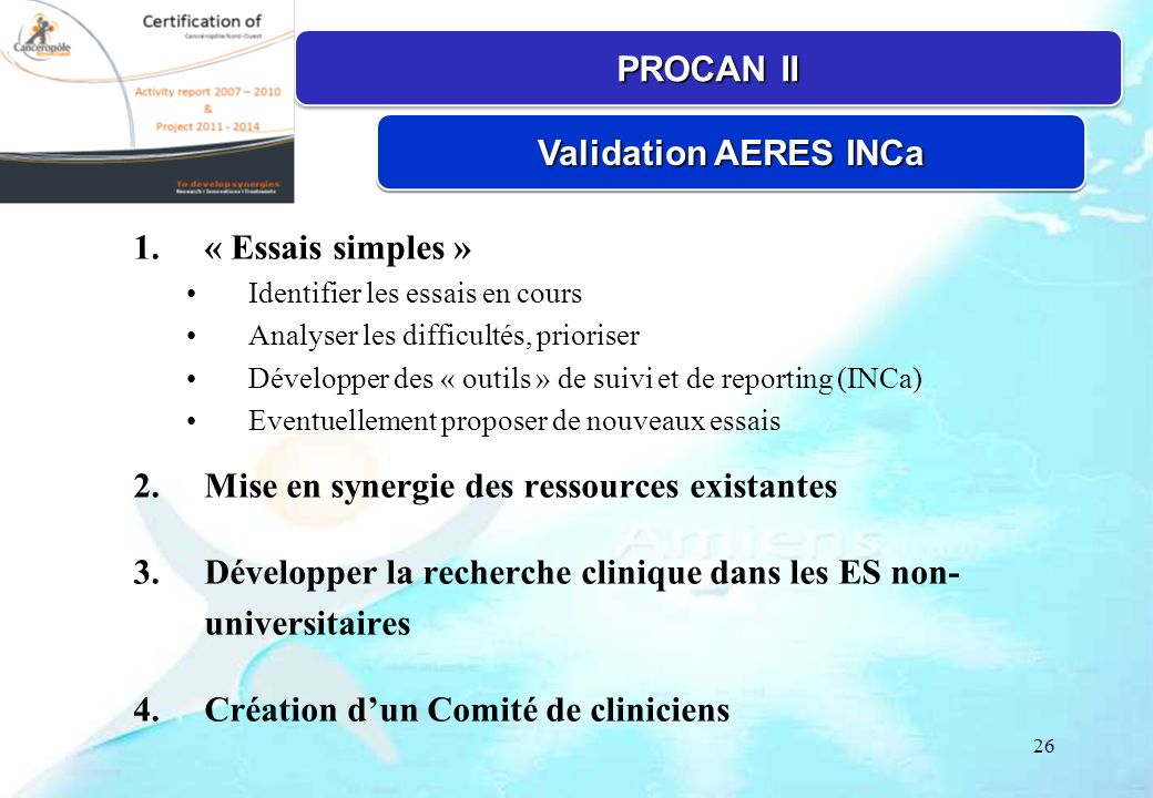 PROCAN II Validation AERES INCa