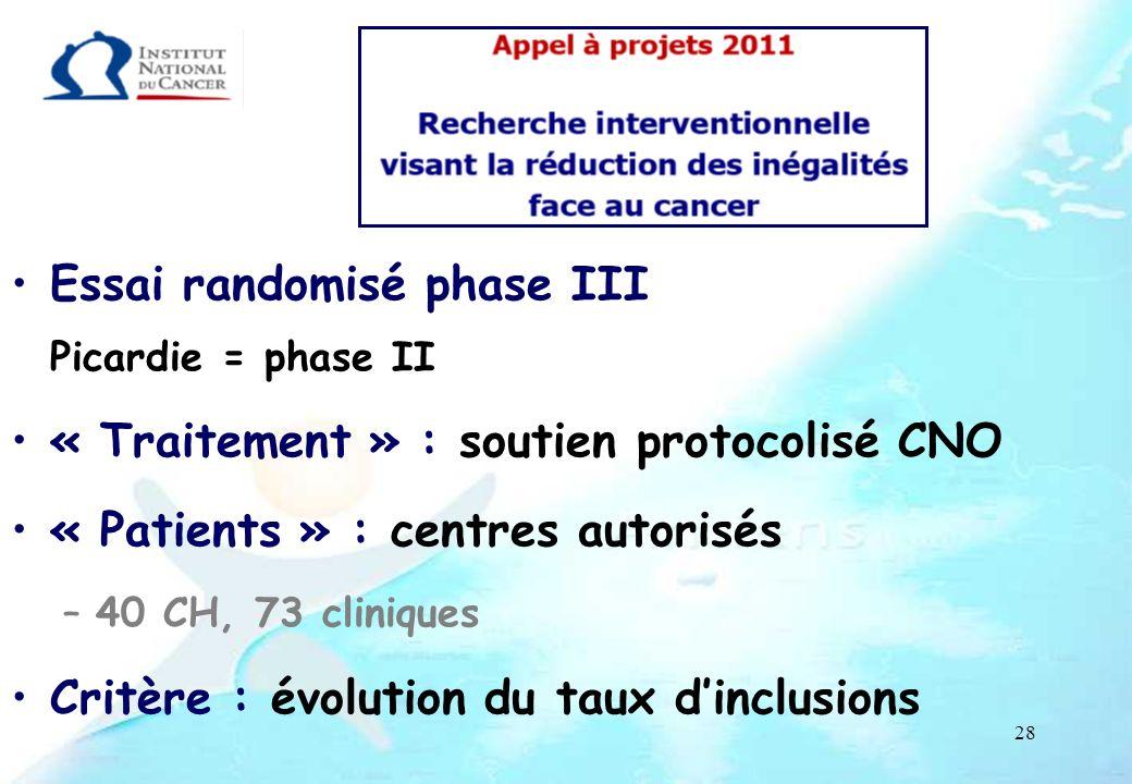 Essai randomisé phase III Picardie = phase II