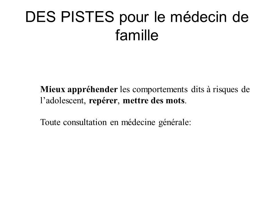 DES PISTES pour le médecin de famille