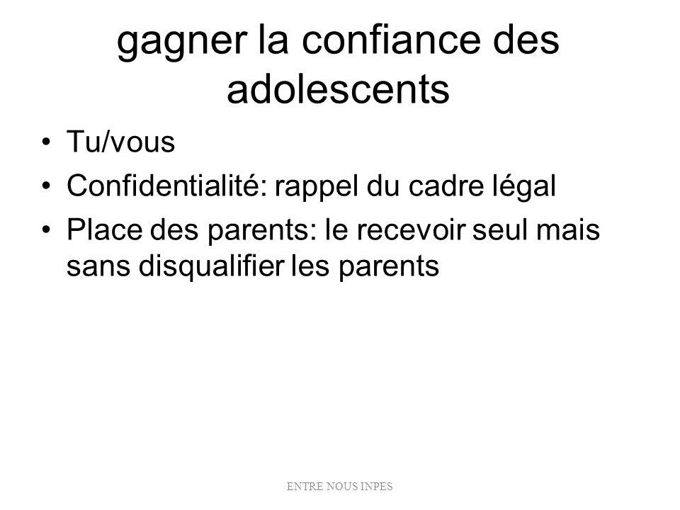 gagner la confiance des adolescents