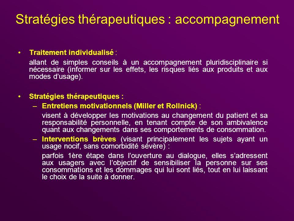 Stratégies thérapeutiques : accompagnement