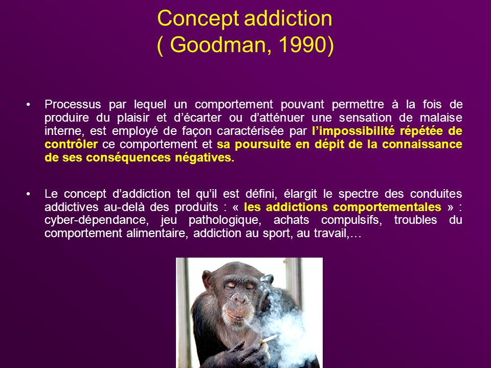 Concept addiction ( Goodman, 1990)