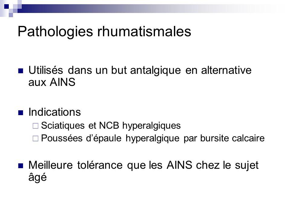 Pathologies rhumatismales