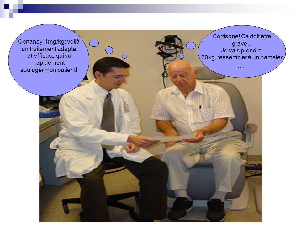 … … Cortisone! Ca doit être Cortancyl 1mg/kg: voilà grave…