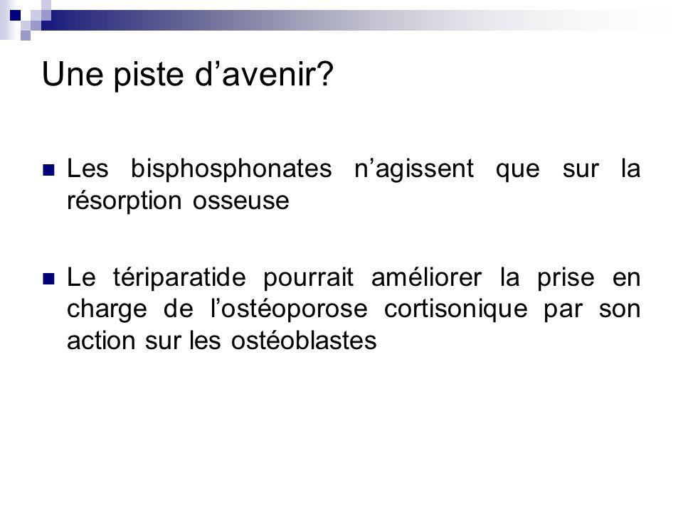 Une piste d'avenir Les bisphosphonates n'agissent que sur la résorption osseuse.