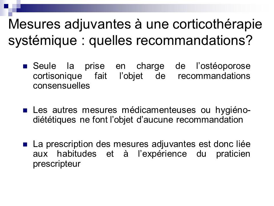 Mesures adjuvantes à une corticothérapie systémique : quelles recommandations