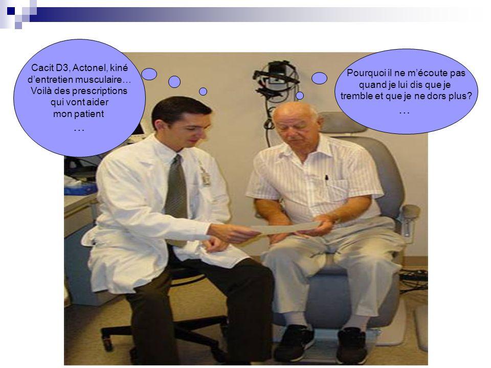 … … Cacit D3, Actonel, kiné d'entretien musculaire…