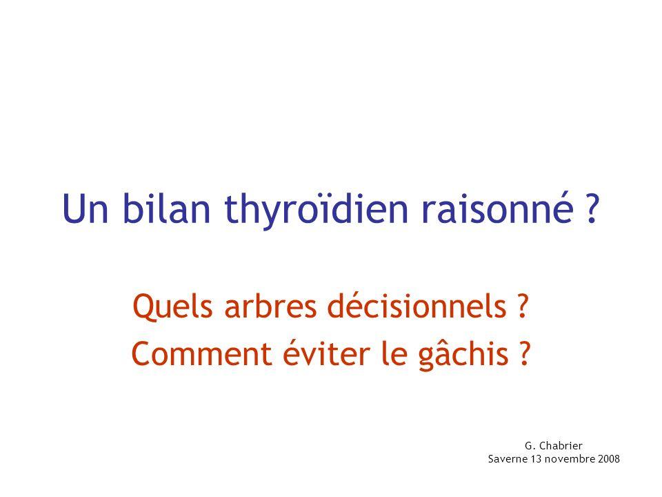 Un bilan thyroïdien raisonné