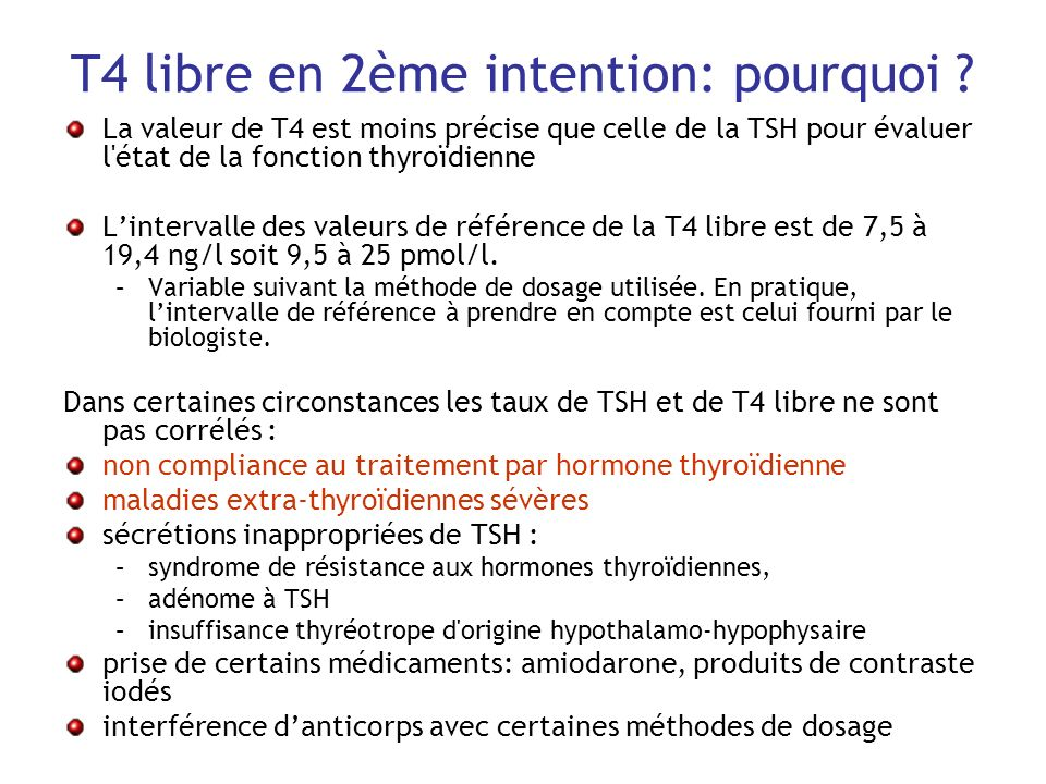 T4 libre en 2ème intention: pourquoi