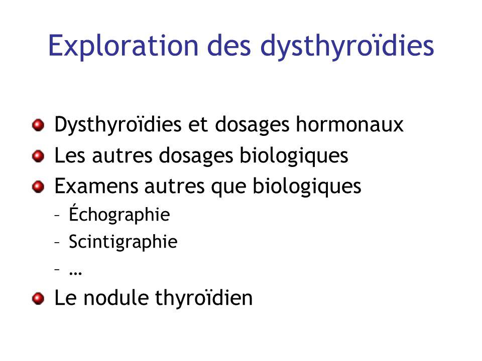 Exploration des dysthyroïdies