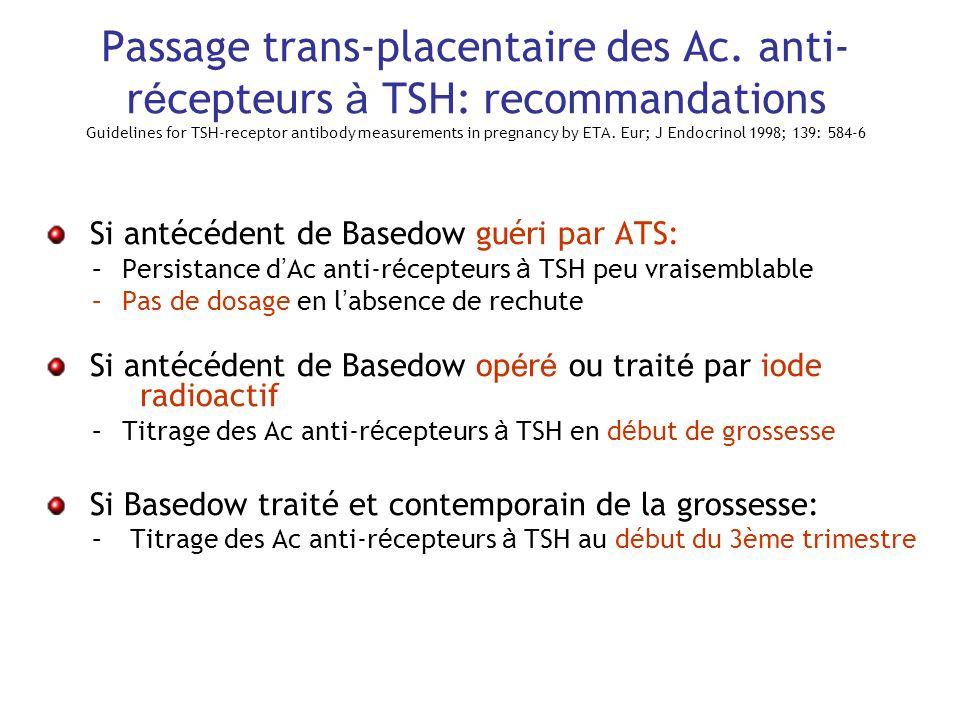 Passage trans-placentaire des Ac