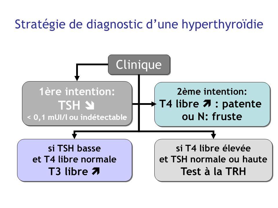 Stratégie de diagnostic d'une hyperthyroïdie