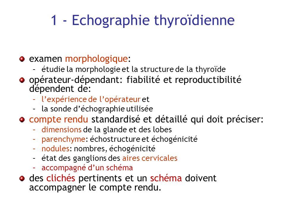1 - Echographie thyroïdienne