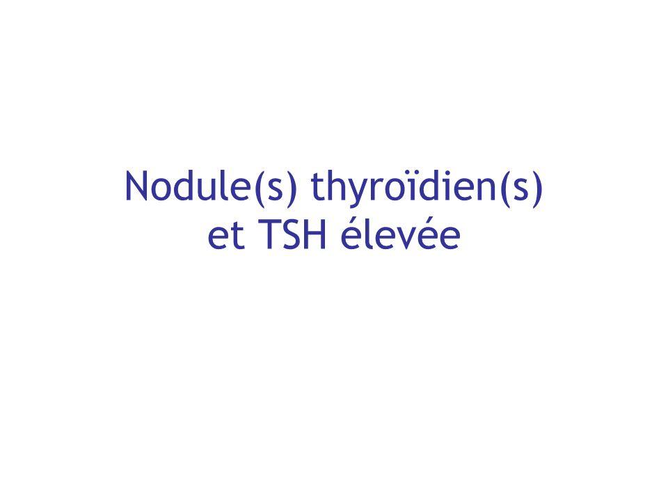 Nodule(s) thyroïdien(s) et TSH élevée