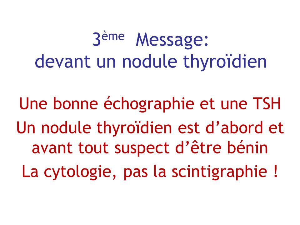 3ème Message: devant un nodule thyroïdien