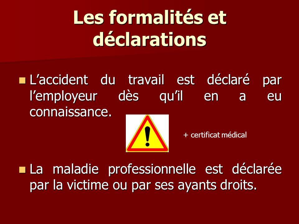 Les formalités et déclarations