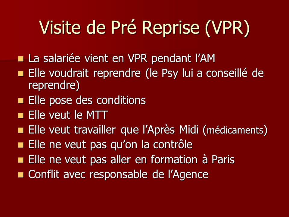 Visite de Pré Reprise (VPR)