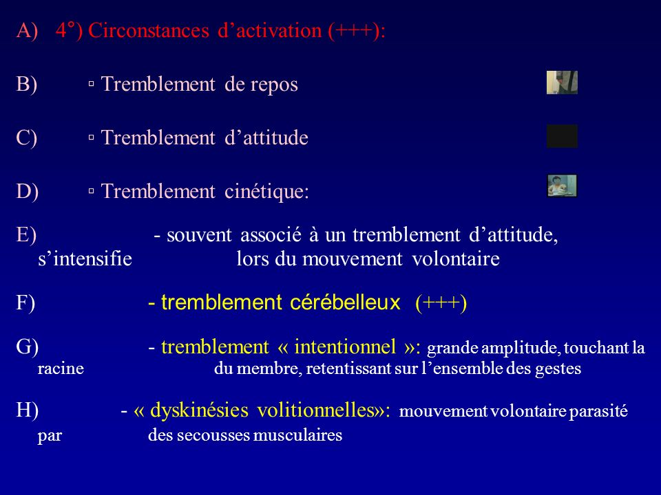4°) Circonstances d'activation (+++):