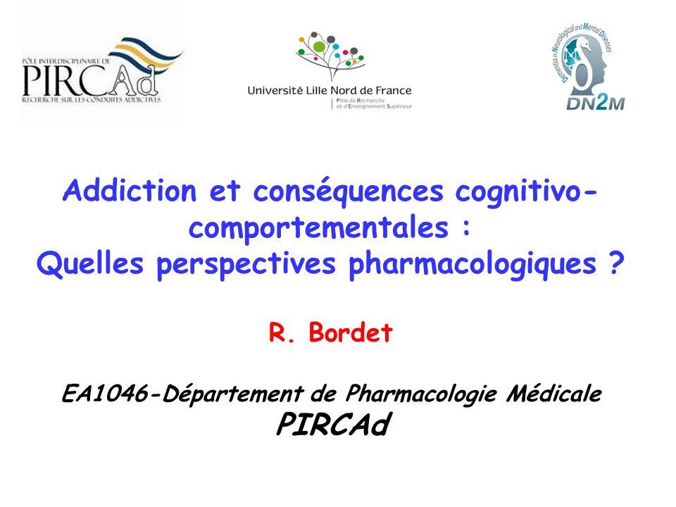 Addiction et conséquences cognitivo-comportementales :