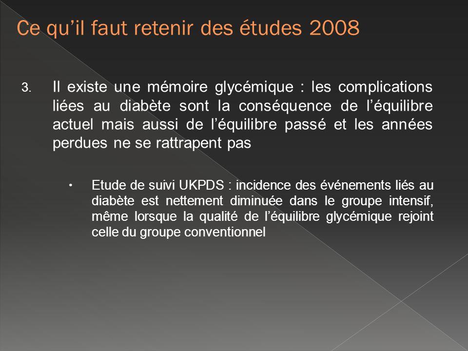 Ce qu'il faut retenir des études 2008