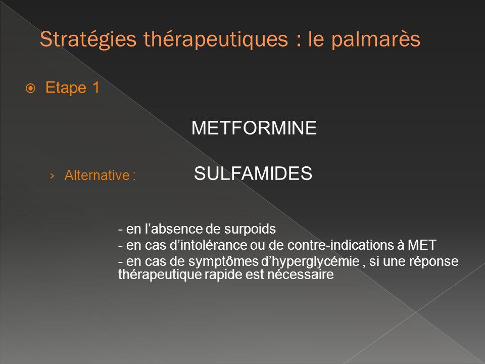Stratégies thérapeutiques : le palmarès