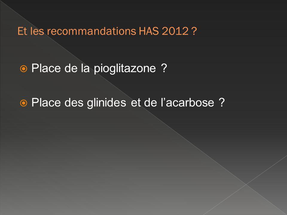 Et les recommandations HAS 2012