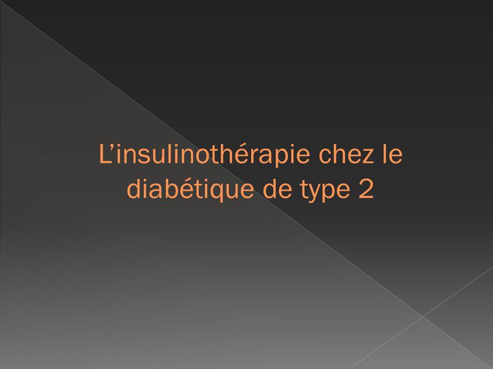 L'insulinothérapie chez le diabétique de type 2