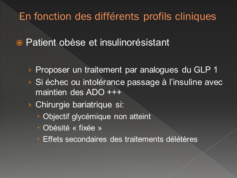 En fonction des différents profils cliniques