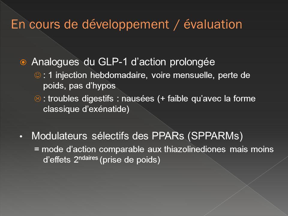 En cours de développement / évaluation