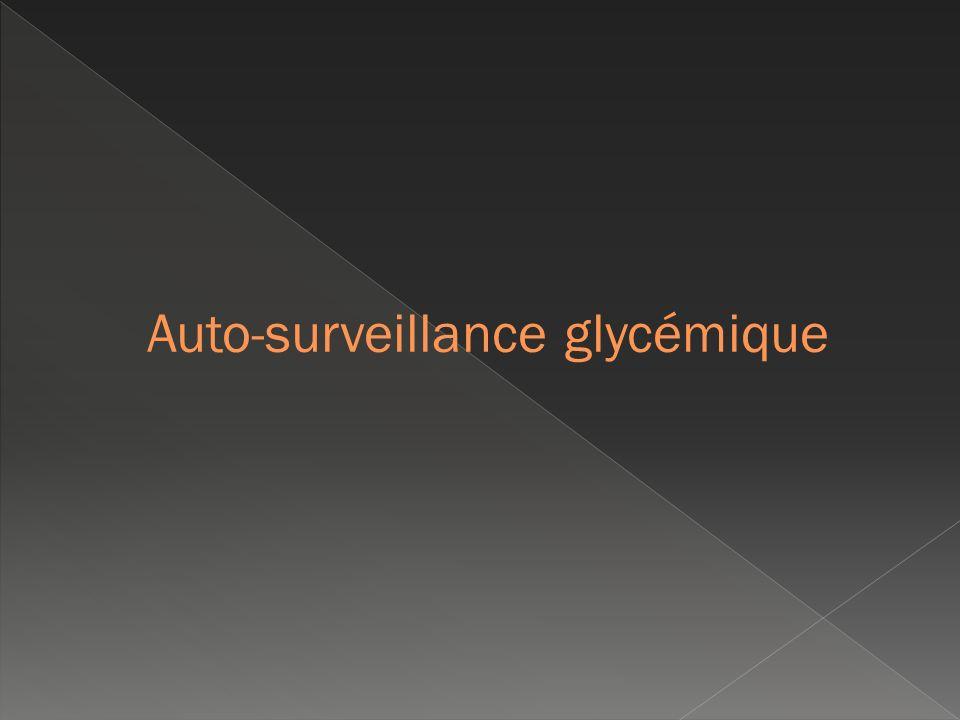 Auto-surveillance glycémique