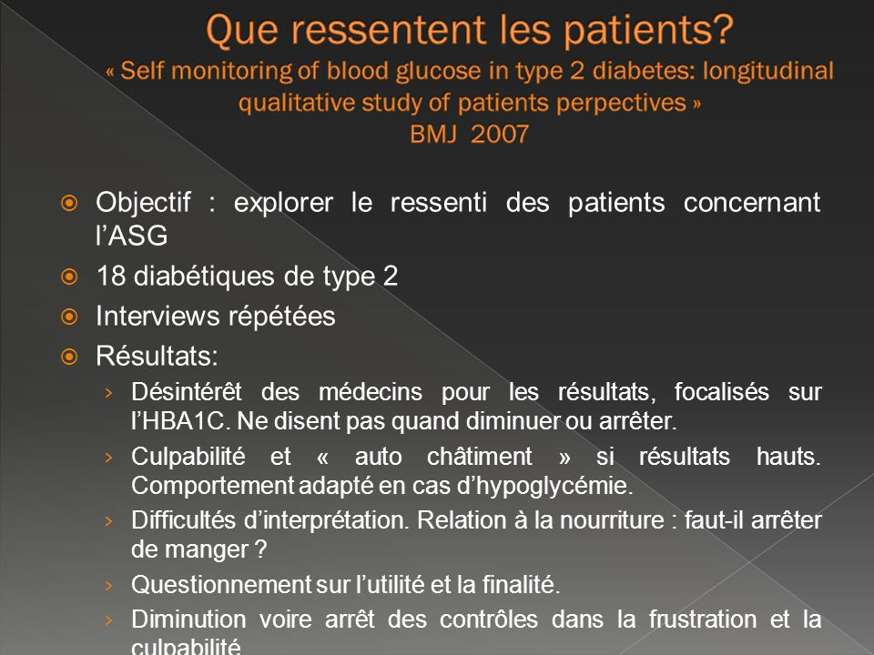 Que ressentent les patients