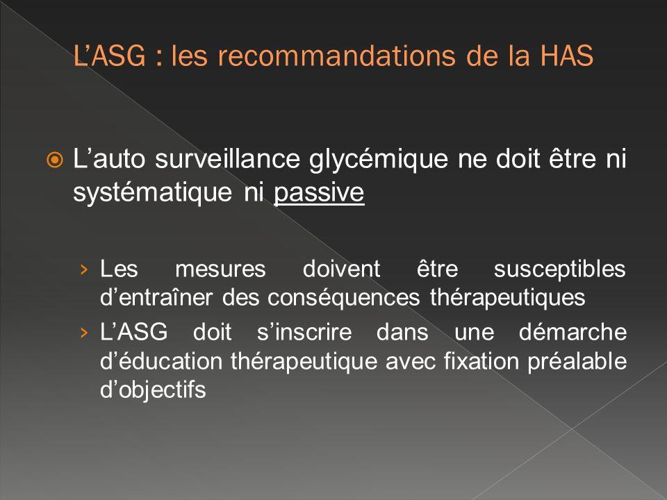 L'ASG : les recommandations de la HAS