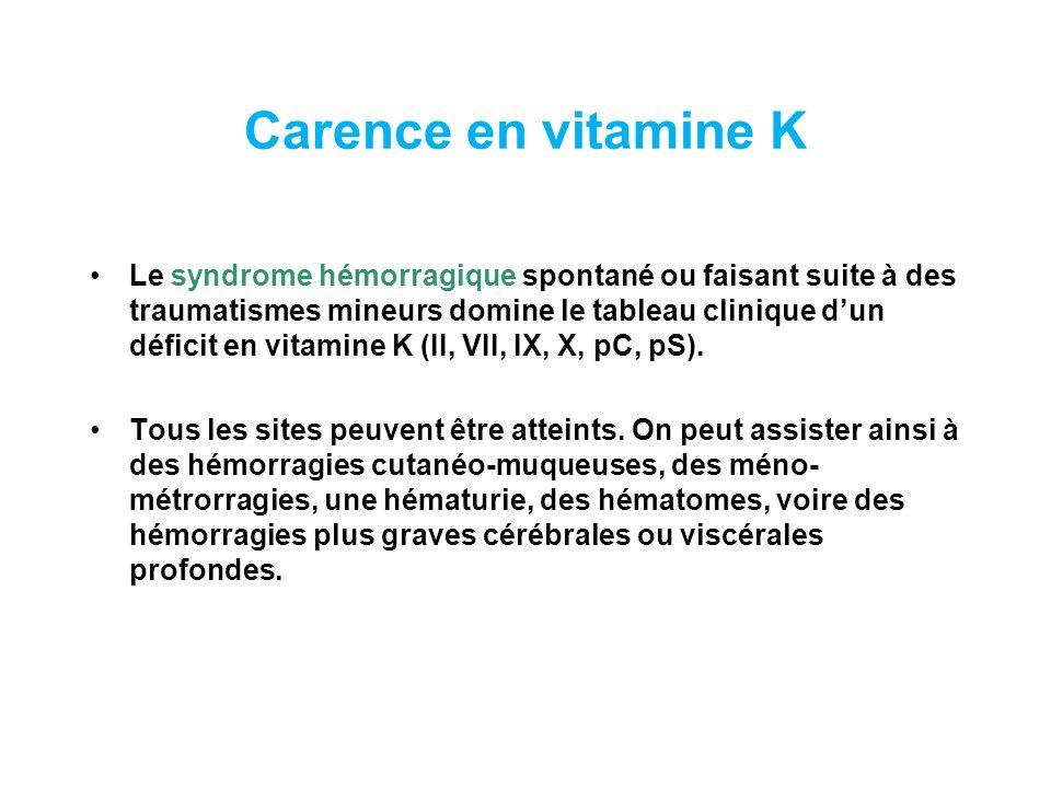 Carence en vitamine K